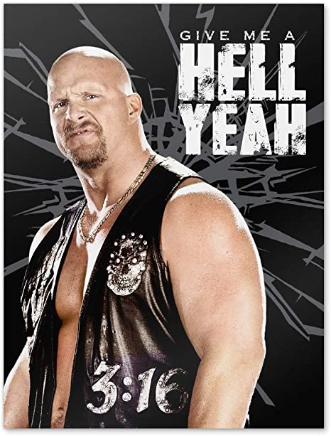 Amazon.com: GRAPHICS & MORE WWE Stone Cold Steve Austin Hell Yeah Home  Business Office Sign : Home & Kitchen