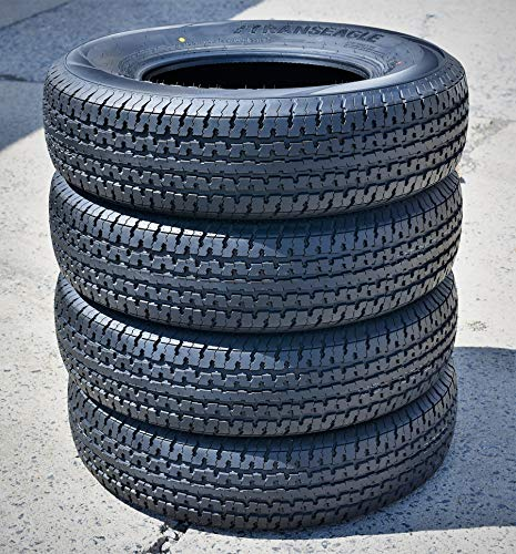 Set of 4 (FOUR) Transeagle ST Radial II Steel Belted Premium Trailer Tires-ST225/75R15...