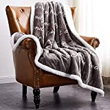 Rose Home Fashion Throw Blanket Gifts for Women Fleece Blanket Plush Blanket Fluffy Blanket Fuzzy Blanket (Throw, Grey)