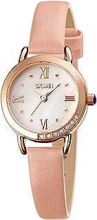 ساعة كوارتز نسائية أنيقة رقيقة رائعة كاجوال للنساء مقاومة للماء فستان كلاسيكي هدايا للسيدات (اللون: وردي)