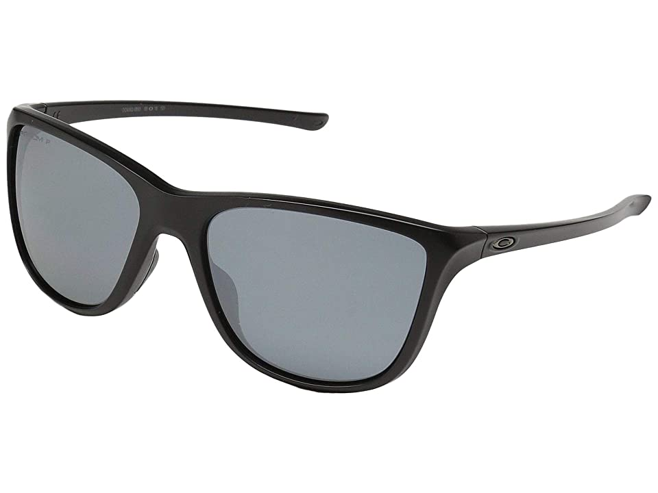 Oakley Reverie (Matte Black w/ Prizm Black Polarized) Fashion Sunglasses