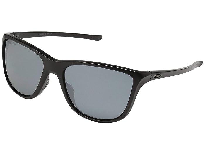 Oakley Reverie (Matte Black w/ Prizm Black Polarized) Fashion Sunglasses