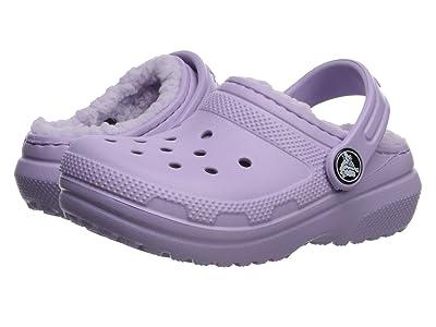 Crocs Kids Classic Lined Clog (Toddler/Little Kid) (Lavender/Lavender) Girl