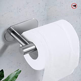 Toilet Paper Holder Paper Towel Holder Tissue Holder Self Adhesive Stainless Steel Toilet Roll Holder no Drilling for Bathroom Bedroom Kitchen on Wall