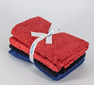 4 Pieces Kitchen Cleaning Towel Set | 100% Cotton | Dusting cloth | Drying cloth | Multipurpose Kitchen Towel | GSM 380 | ...