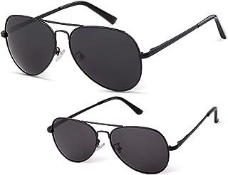 نظارات شمسية افياتور من لورين للرجال والنساء والأطفال، نظارات شمسية مستقطبة للآباء والأطفال، عدسات عاكسة UV400 بإطار معدني