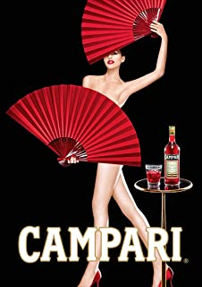 Campari Fans Original Vintage Poster Funny Poster Gift for Men Woman Poster Home Art Wall Posters [No Framed]