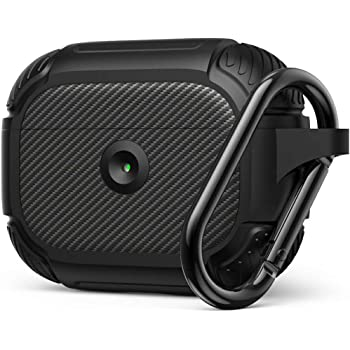 AirPods Pro Case, Full-Body Rugged Protective Pro Case Cover, Resilient Shock Absorption Wireless Charging, Durable Protective Case with Smooth Skin LED Visible for Airpod Pros 2019 - Matte Black
