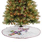 Homesonne Alfombra para árbol de Navidad con forma de flecha, flores y mariposas floreciente, diseño...