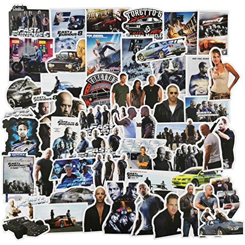 Fast & Furious Stickers for Water Bottles, America Movie Stickers for Laptop Phone Skateboard, Cool and Trendy Waterproof Vinyl Decal for Teen and Adults