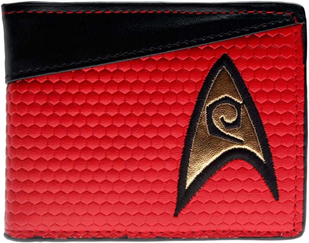 Enterprise Voyager Discovery Captain Kirk or Picard Star Trek Wallet for Men 4 Styles to Choose From
