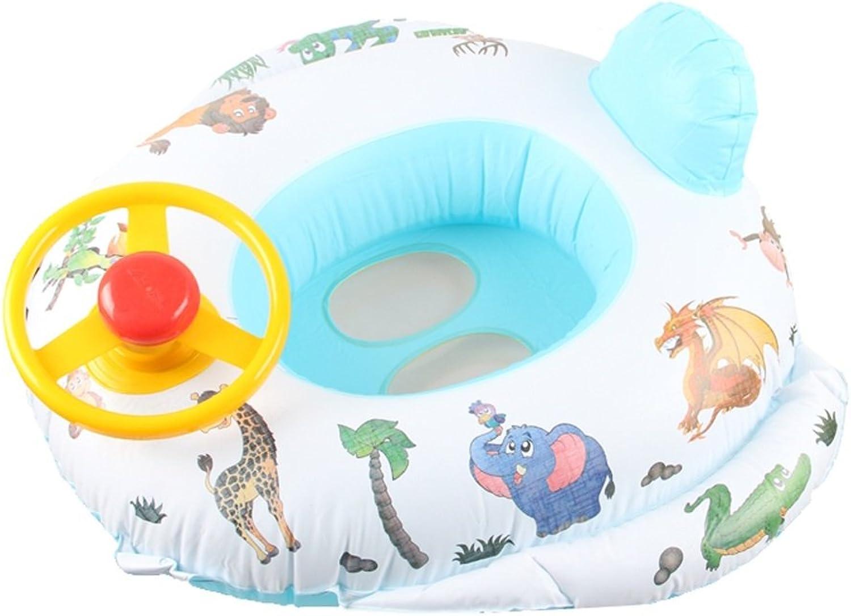 Yousheng Baby-Pool schwimmt Kinderschwimmring aufblasbare Sitz-Stiefel-Floss-Autoform mit Lenkrad für Kinder (Farbe   Weiß)B07FPPRQSWDer neueste Stil    Hohe Qualität Und Geringen Overhead