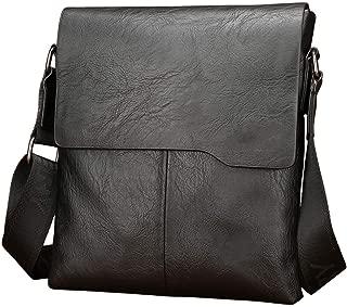 Leather Men's Bag - Shoulder Bag Crossbody Bag, First Layer Cowhide Vertical Small Bag Business Casual Backpack