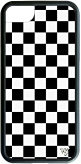Wildflower Limited Edition iPhone Case for iPhone 6 Plus, 7 Plus, or 8 Plus (Black Checkered)