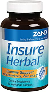 Zand Insure Herbal Immune Support | Vitamin C, Zinc, Echinacea, Goldenseal & Herbal Blend w/Elderberry, Ginger & More | La...