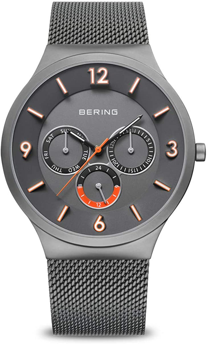 BERING Reloj Analógico Classic Collection para Hombre de Cuarzo con Correa en Acero Inoxidable y Cristal de Zafiro 33441-377