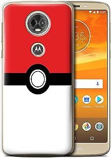 STUFF4 Phone Case/Cover for Motorola Moto E5 Plus 2018 / Red Design/Pokeball Anime Inspired Collection