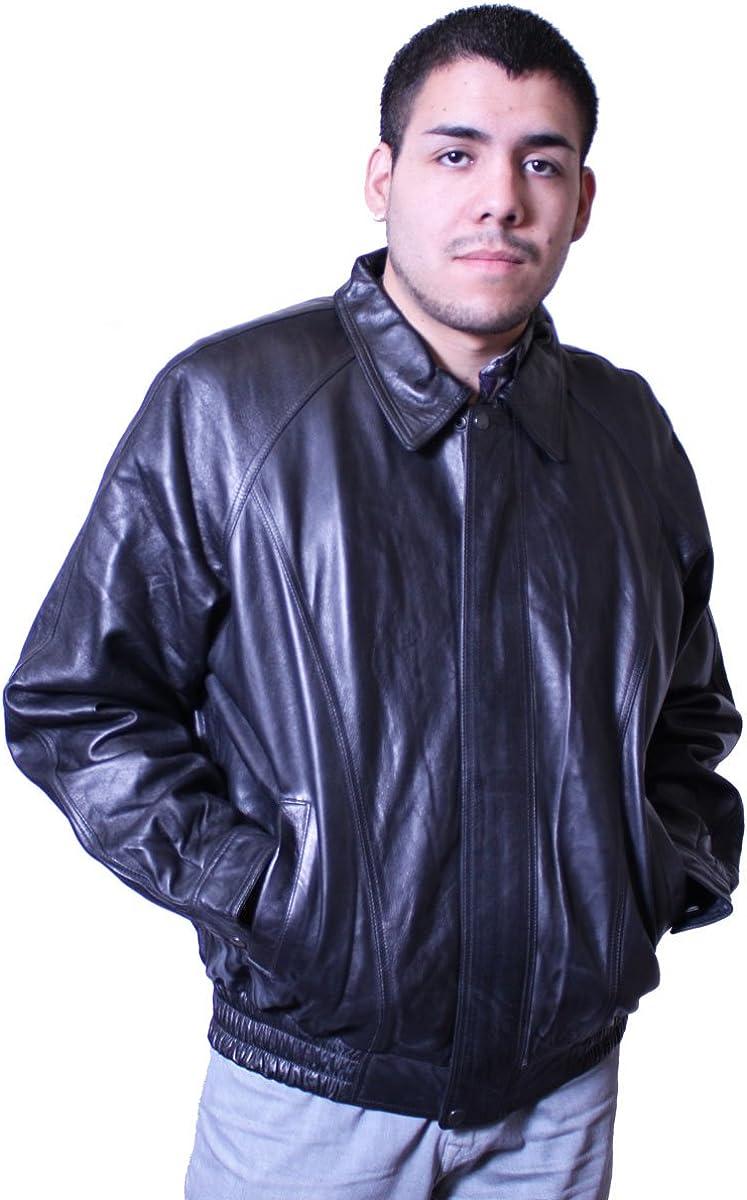 Men's Classic Bomber Soft Lamb Leather Jacket,