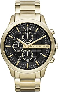 Goldtone Hampton Chronograph Watch with Black Dial