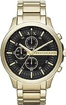 ارماني اكسجينج ساعة رسمية للرجال انالوج بعقارب ستانلس ستيل - AX2137