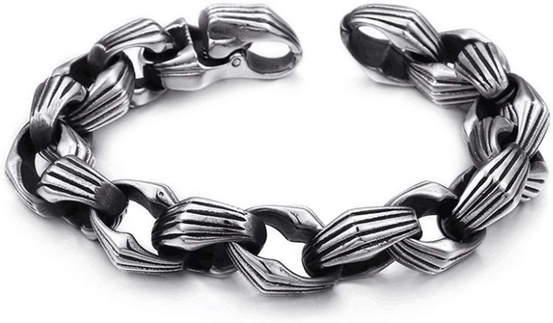 Zicue Stylish Charming Bracelet Exquisite Ornaments Men's Bracelet Titanium Steel Punk Designer Fashion Jewelry with Magnetic Clasp