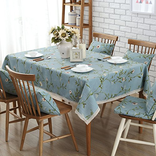 DFSZBDN Stevig langwerpig tafelkleed, tafelkleed, print, keukentafel, doek, tafelkleed, voor eetkamer, doorzichtige kunststof tafelkleden 140x220cm(55x87inch) F