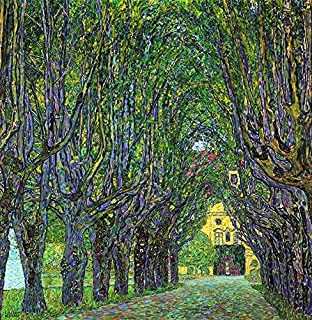 Wieco Art Avenue in Schloss Kammer Park, 1912 by Gustav Klimt Famous Paintings Canvas Wall Art Bedroom Wall Decor Canvas Prints Artwork for Living Room Wall Decorations Home Decor