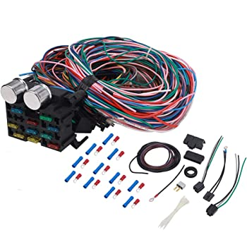 Amazon.com: 12 Circuit Universal Wiring Harness Kit for Chevy Mopar Hot Rod  Ford Chrysler Truck Car Wire Harness 12-Circuit 10 Fuses Extra Long  Standard Color Coded Wires Wiring Harness W/Detailed Instruction: AutomotiveAmazon.com