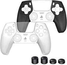 PS5 Controller Grip Skin Comfortable with Playstation 5 Dualsense Controller, OIVO L/R Controller Grips 2 Pairs with 4 Thu...