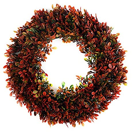 50%OƑƑ Boxwood Wreath - Sunnysdady 16 inches Artificial Front Door Christmas Decorations