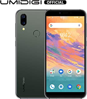 """UMIDIGI A3S Unlocked Smartphone 2020, 5.7"""" Double-Sided 2.5D Curved Glass, 16GB Android 10, Dual SIM +Micro-SD Slot(Up to 256GB) 16MP Dual Camera, Global Version-Midnight Green"""