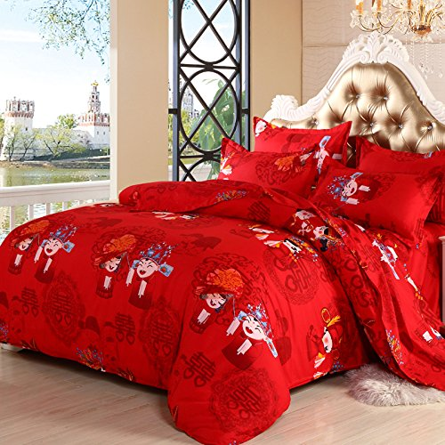d6987b275c2a http://bshopt.panlamloveopor.com/6381/B00ZYGTUEW/red-. for you check price  for Red Bedding Sets Wedding 4pcs bedclothes bed linen sets queen king size  ...