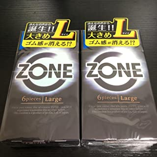 コンドームZONE(ゾーン Lサイズ 6個入 2箱セット ジェクス