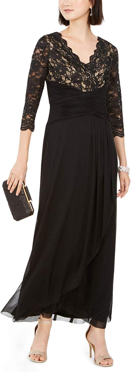 Jessica Howard Women's Lace-Top Gown