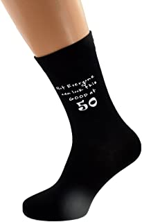 Not Everyone Can Look This Good at 50 Black Mens Socks for 50th Birthday Present