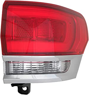 Fits 2014-2017 Jeep Grand Cherokee Rear Tail Light Passenger Side CH2805106 LAREDO|LIMITED|OVERLAND|SUMMIT; Shiny Chrome Trim - replaces 68110016AC