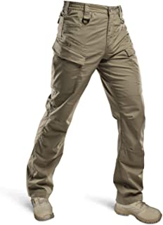 HARD LAND Tactical Pants for Men - Waterproof Lightweight Cargo Work Pants Ripstop Military Hiking BDU Pants Khaki Size 40...