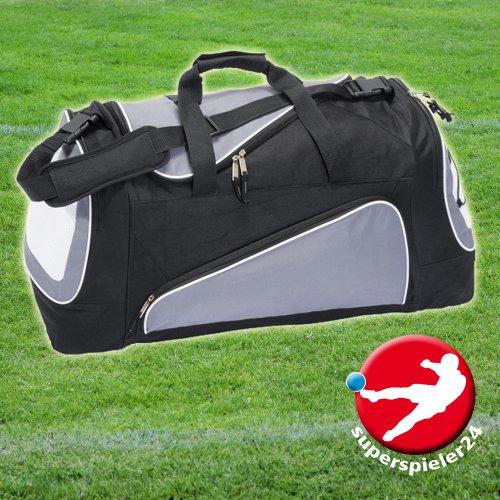 Borsa sportiva, borsa da calcio, grigio/nero, circa 60cm, per necessità Team sport–base Ball training