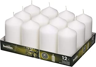 BOLSIUS White Pillar Candles - 40 Long Burning Hours Candle Set - 5-inch x 2.75-inch Dripless Candle - Perfect for Wedding Candles, Parties and Special Occasions
