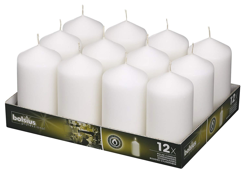 BOLSIUS Wedding Pillar Candles White