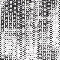 artek(アルテック) 生地 約146×100cm H55 ホワイト×グレー