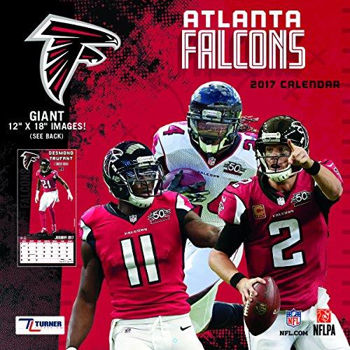 "Turner Licensing Sport 2017 Atlanta Falcons Team Wall Calendar, 12""X12"" (17998011900)"