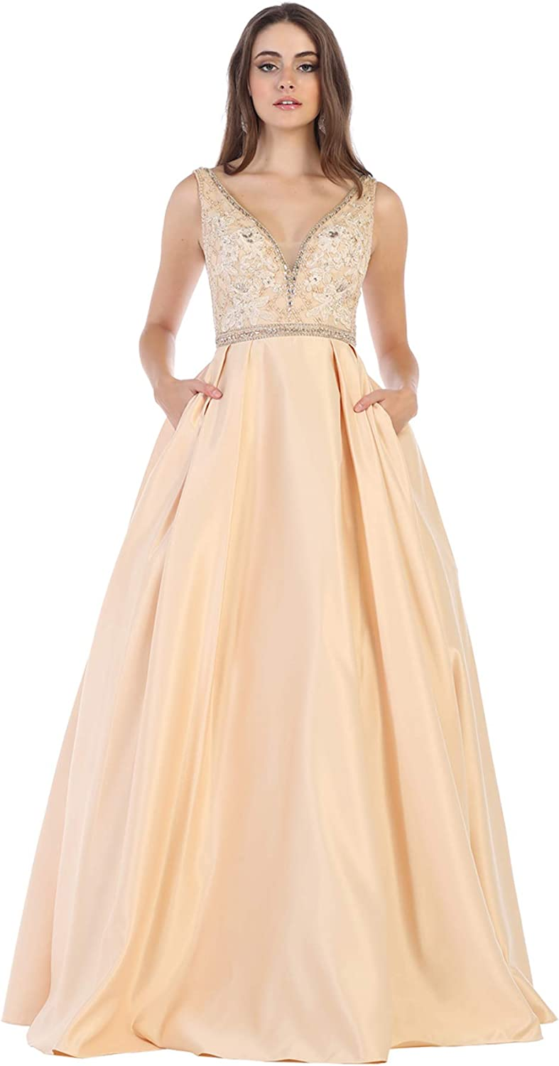 Formal Dress Shops Inc FDS1581 Aline Prom Queen Formal Gown