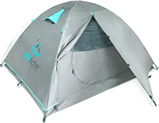 FE Active 4 Person Tent - Four Season 3-4 Man with 3000mm Waterproof Rip-Stop, Full Rainfly, Aluminum Poles Adult Tent for...