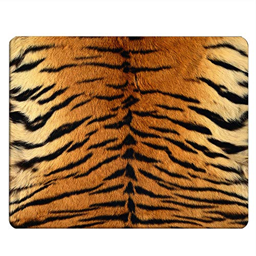 NICOKEE Tiger Rectangle Gaming Mousepad Animal Tiger Skin Print Mouse Pad Mouse Mat for Computer Desk Laptop Office 9.5 X 7.9 Inch Non-Slip Rubber