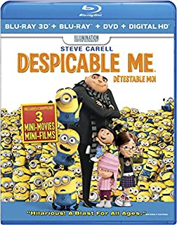 Despicable Me 3D - Détestable moi [Blu-ray 3D + Blu-ray + DVD + UltraViolet] (Version française) (B00BXE9LVQ) | Amazon price tracker / tracking, Amazon price history charts, Amazon price watches, Amazon price drop alerts