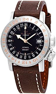 Glycine Airman 18 Purist Automatic Black Dial Men's Watch GL0227