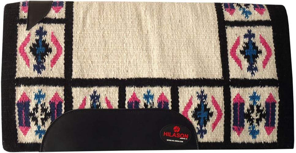 HILASON Sale item Horse 40% OFF Cheap Sale Western Saddle Blanket New Zealand Off Wool White