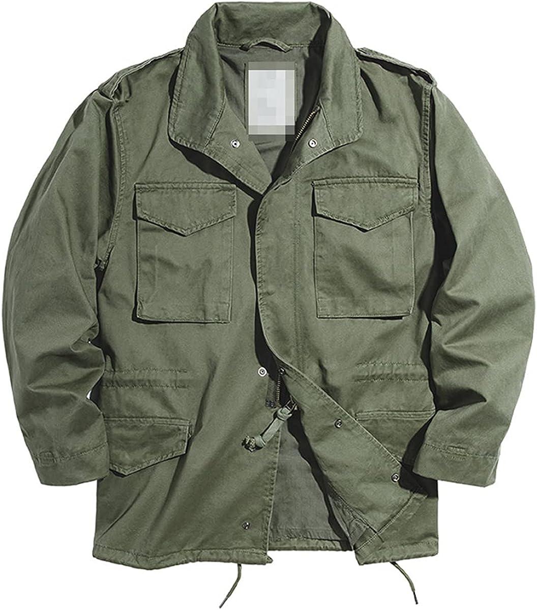 Men's Vintage Suit Military Green And Blue Multi-Pocket Denim Jacket Military Embroidered Denim Jacket