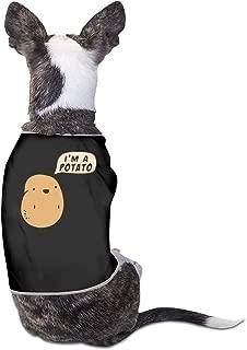 COLLJL8 I'm A Potato Pet Clothing Costume Puppy Dog Clothes Vest Tee Shirts